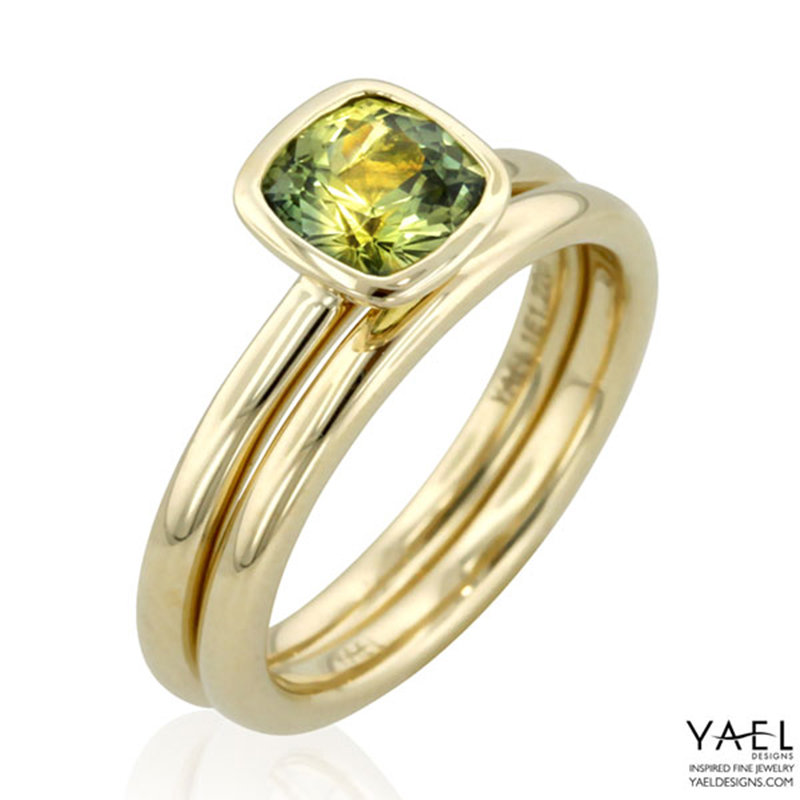 yael modern wedding rings