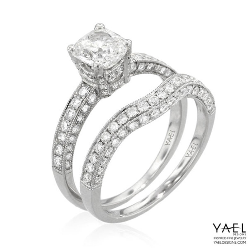 yael white gold wedding rings