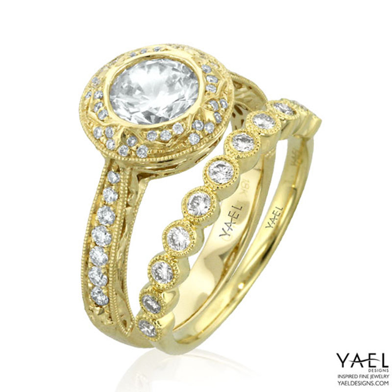 yael yellow gold wedding rings
