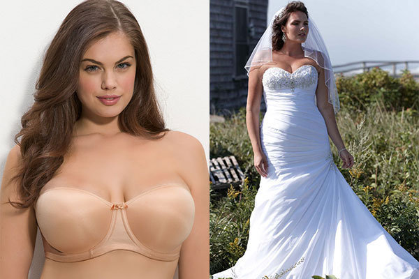 Wondering what to wear under your wedding dress dave for What to wear under strapless wedding dress