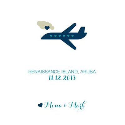 airplane save the date