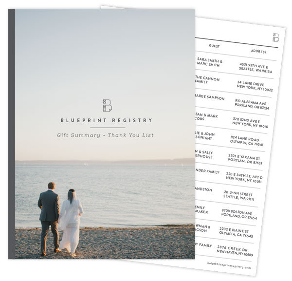 Registry news creating your own blueprint bridalguide be sure to check out blueprint registry its an innovative site that offers endless possibilities for really personalizing your registry malvernweather Image collections