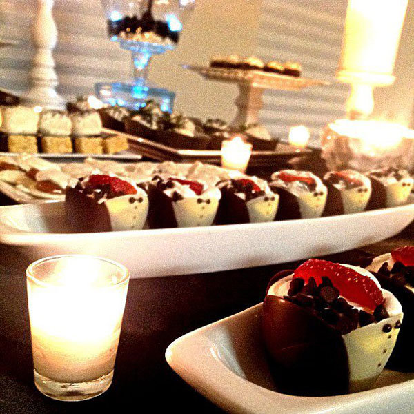 Glam white and silver engagement party dessert table! See ... |Engagement Party Dessert Recipes
