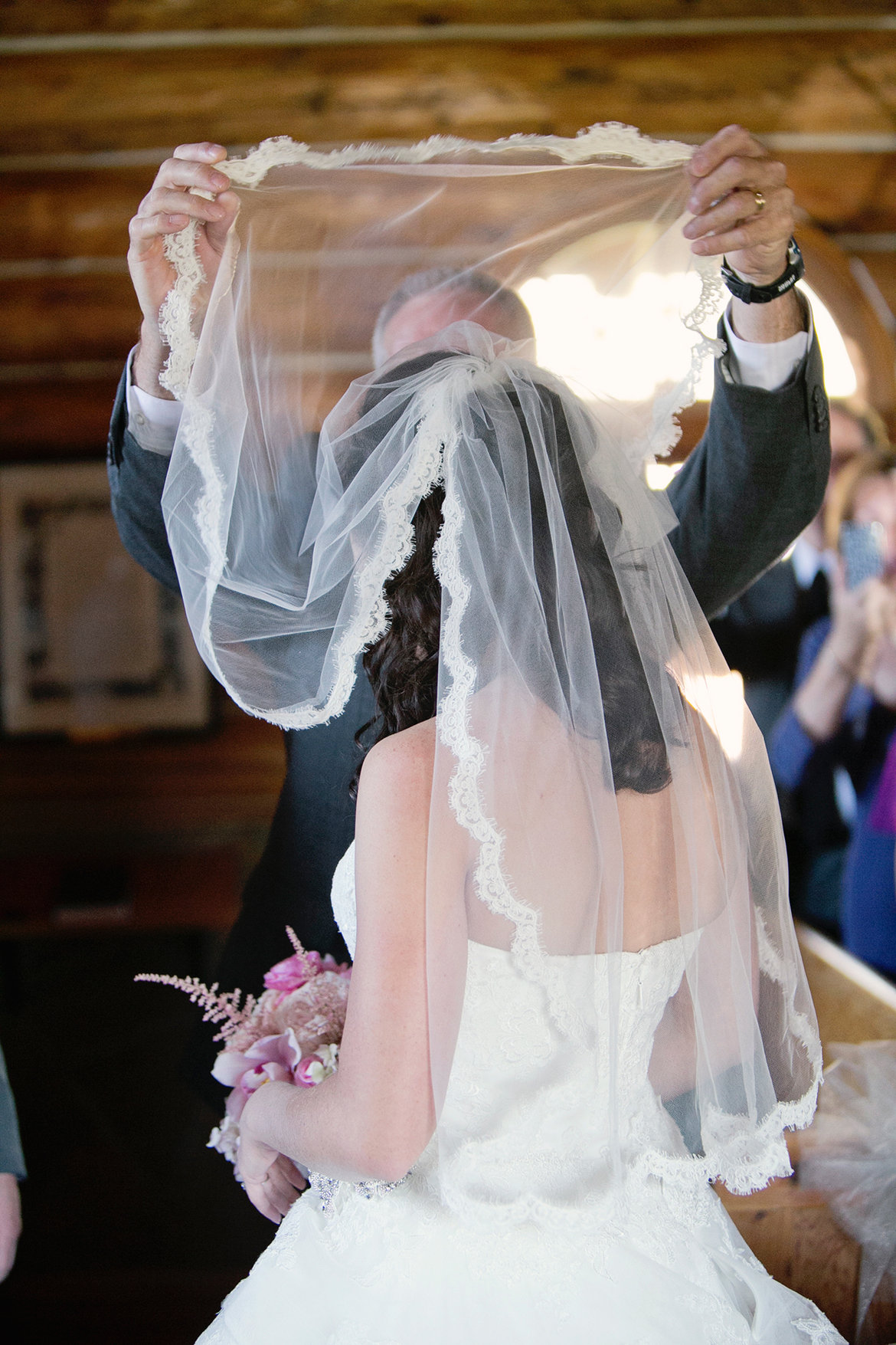 lifting wedding veil