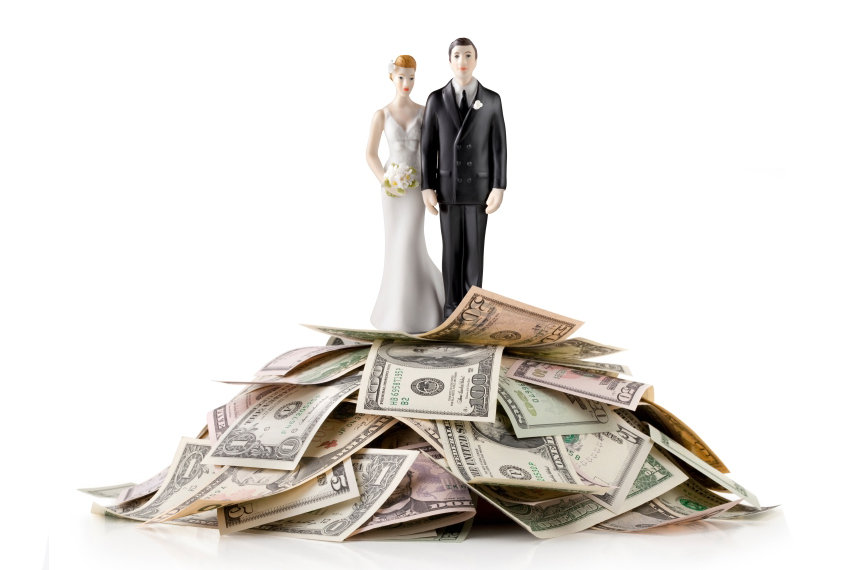bride groom money