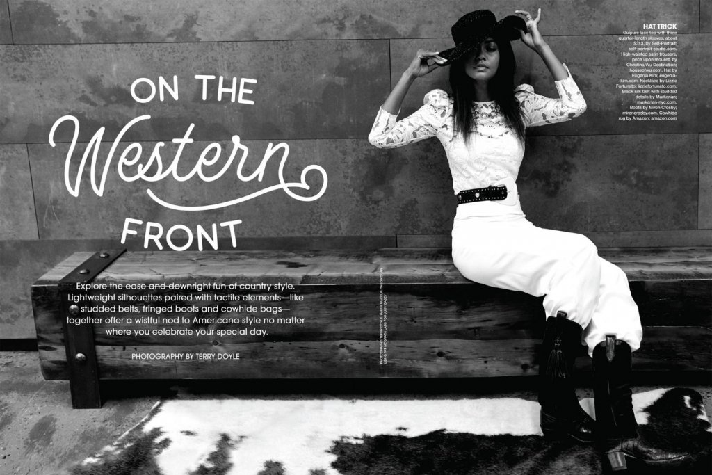 bridal guide january february issue western dresses