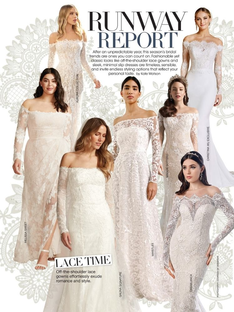 bridal guide january february issue runway report