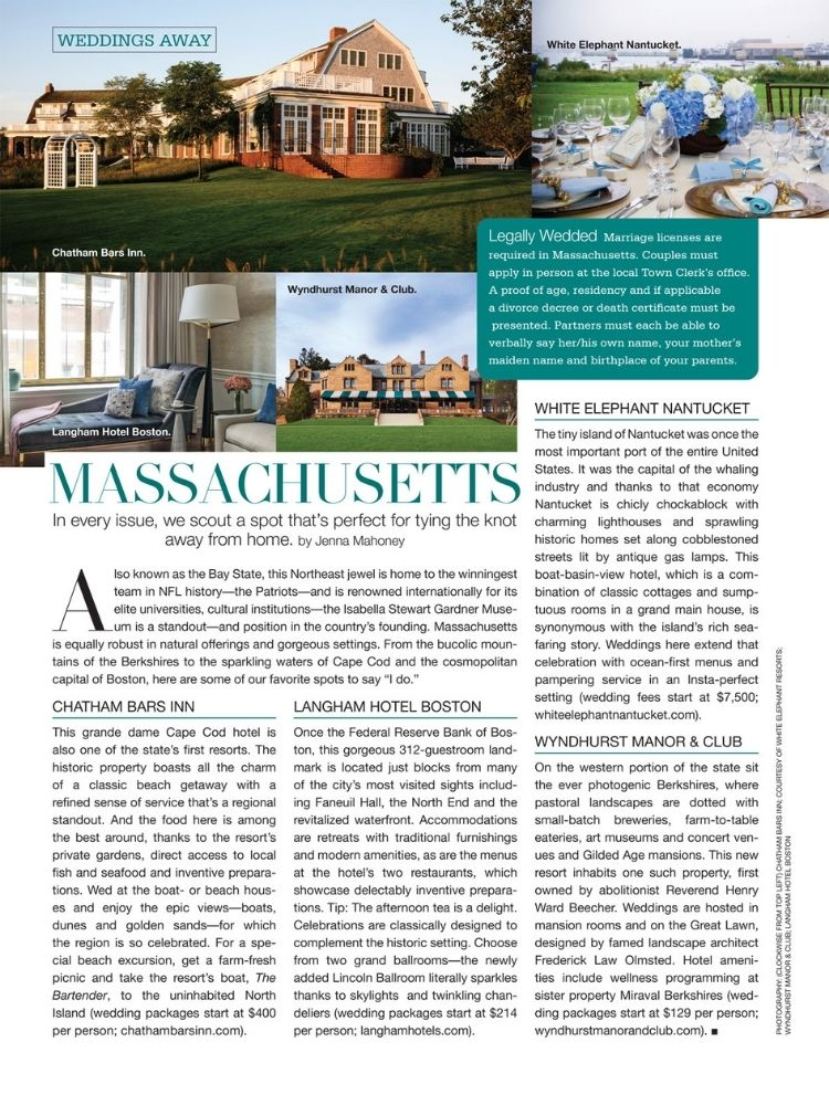 bridal guide january february issue massachusetts