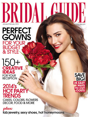 bridal guide january february 2014 cover