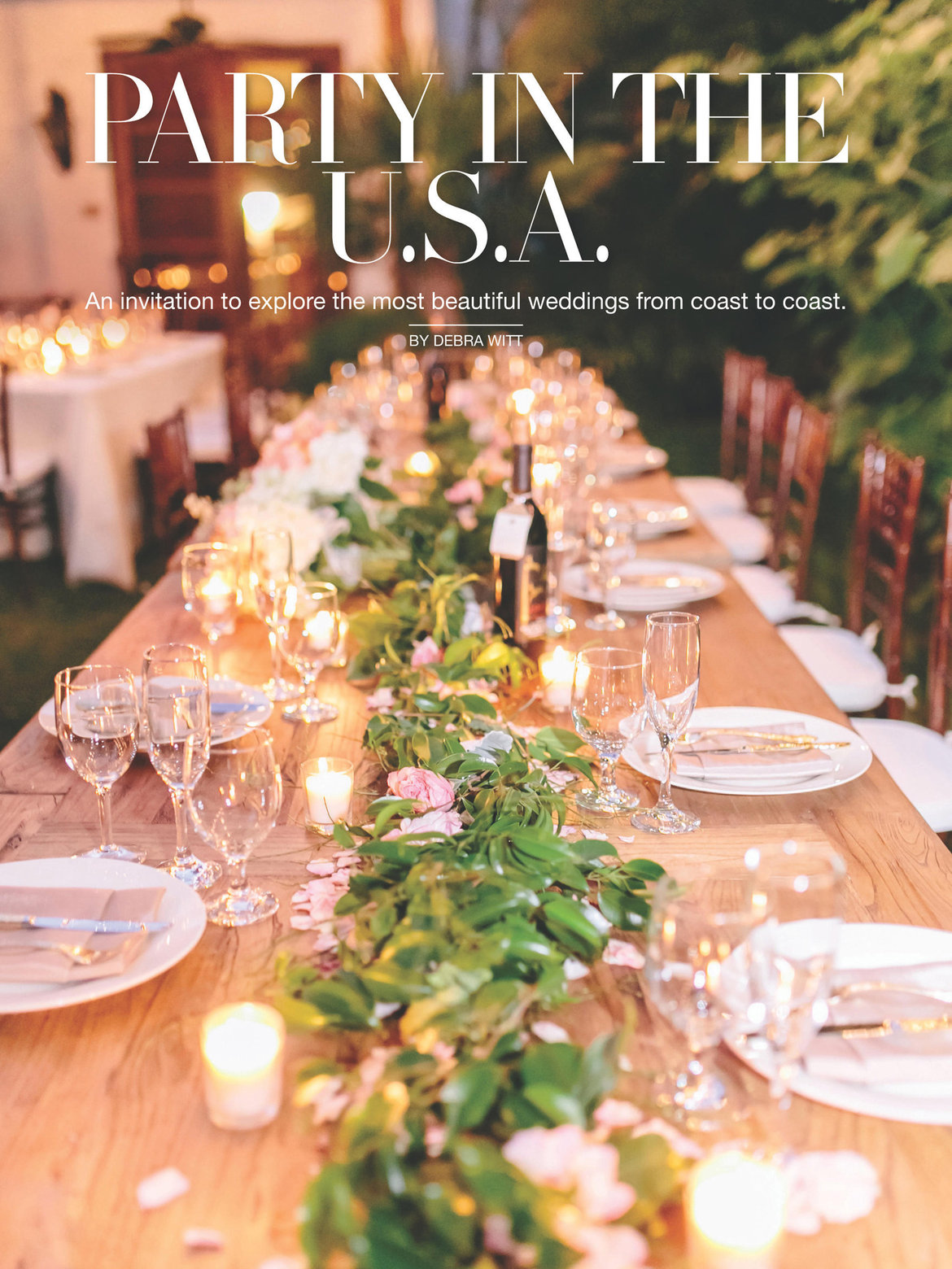 july august modern weddings southern style