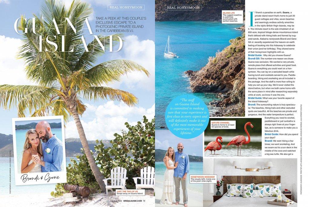 Real honeymoon Guana Island