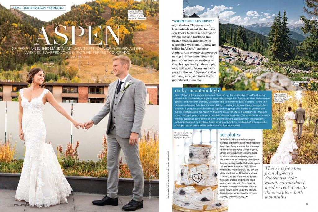 Real wedding in Aspen