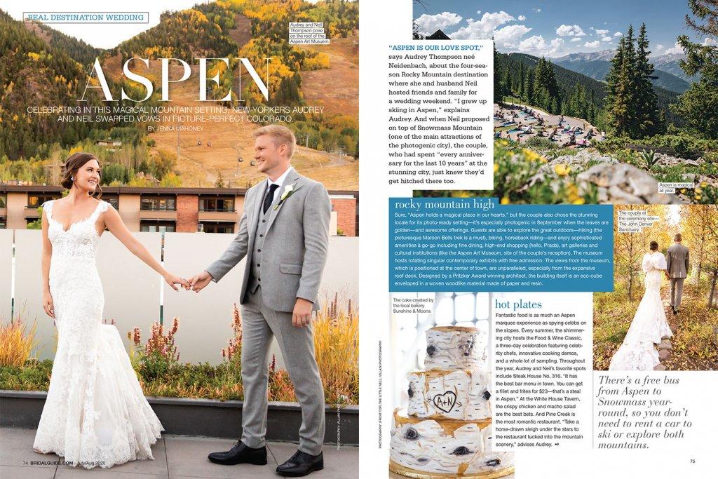 Real wedding in Aspen