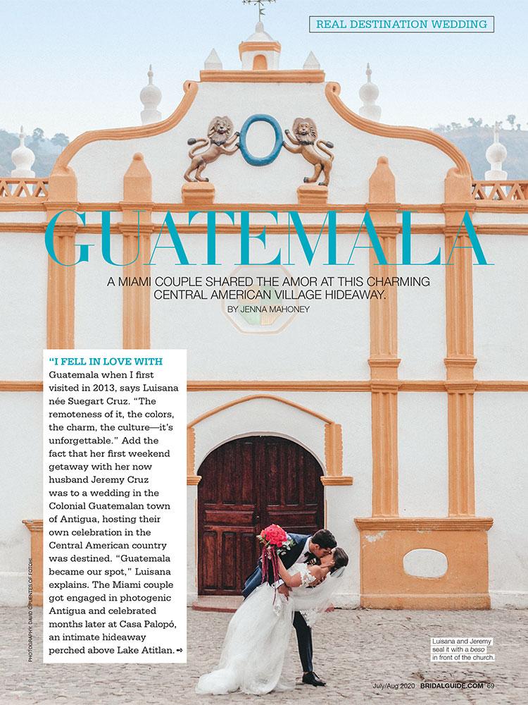 Real wedding in Guatemala