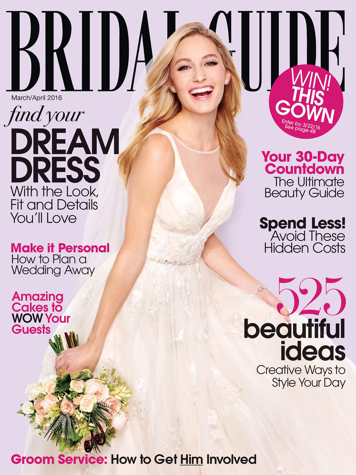 bridal guide march april 2016 cover