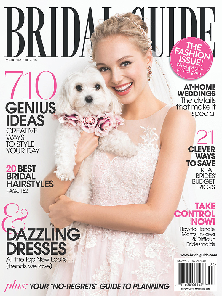 bridal guide march april 2018 cover