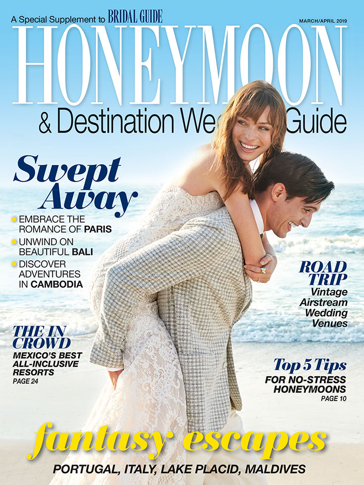 bridal guide march april 2019 honeymoon guide cover