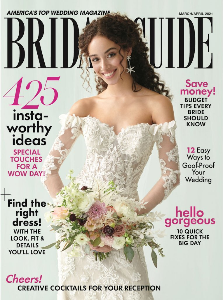 bridal guide march april 2021 cover