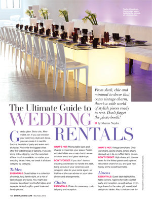ultimate guide to wedding rentals