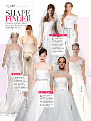 bridal guide november december style finder best dresses for your shape
