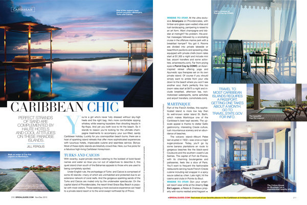 caribbean chic honeymoon ideas from bridal guide november december 2013