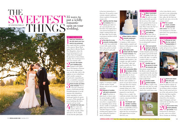 amazing things to incorporate into your wedding sweet ideas from bridal guide november december 2013 issue