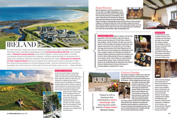 travel snapshot ireland honeymoons in ireland bridal guide november december 2013