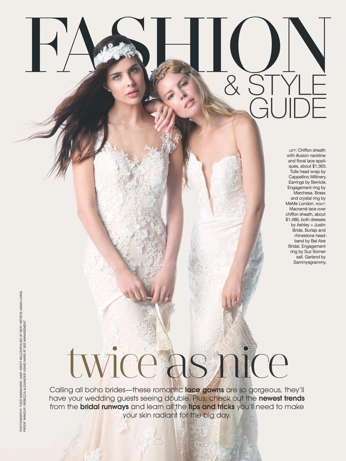 fashion frontis inside the new issue bridalguide,Meme Bridal