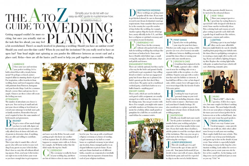 bridal guide a to z wedding planning guide