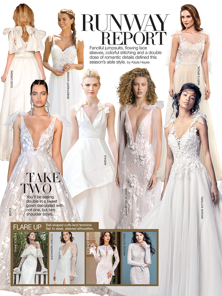 wedding gown trends 2018