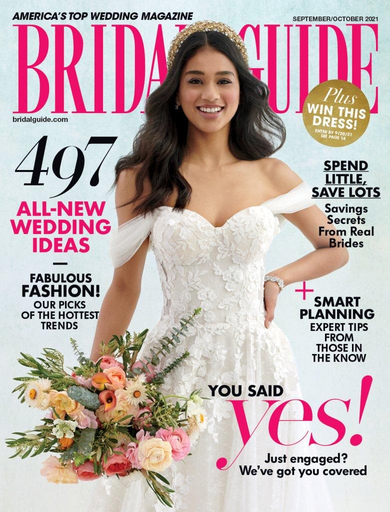 bridal guide september october 2021 cover