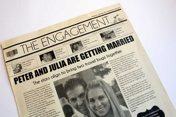 In the news ideas for your wedding bridalguide for Wedding announcement ideas for newspaper