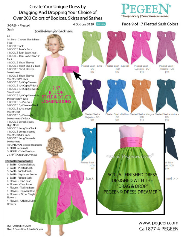Customize your flower girl 39 s dress using this virtual for Virtual try on wedding dress