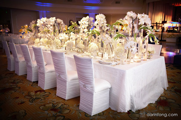 Take a seat reception d cor ideas bridalguide for Decorating chairs for wedding reception