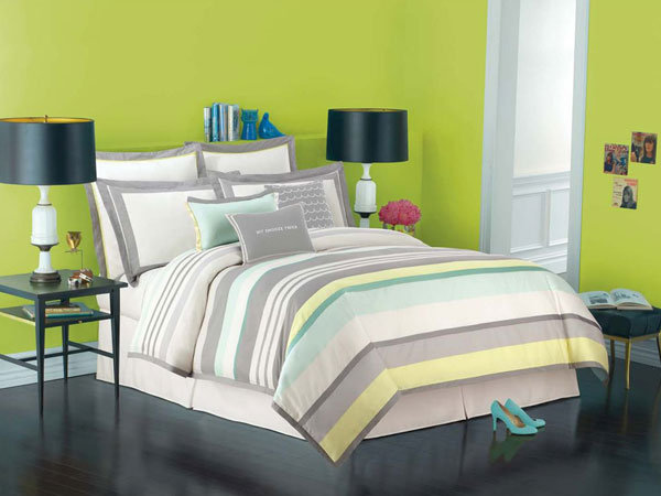 kate spade new york candy shop stripe bedding in mist