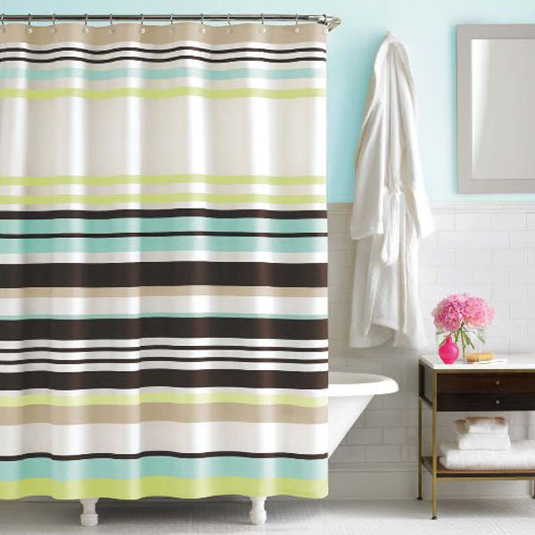 kate spade new york candy shop stripe shower curtain