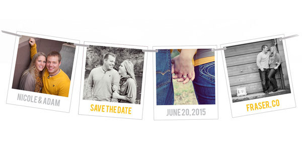 Creative New Save the Date Ideas   BridalGuide Bridal Guide snapshots in time save the date pear tree greetings