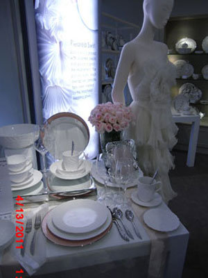 registry item and mirrors the fabulous Marchesa wedding dresses designed