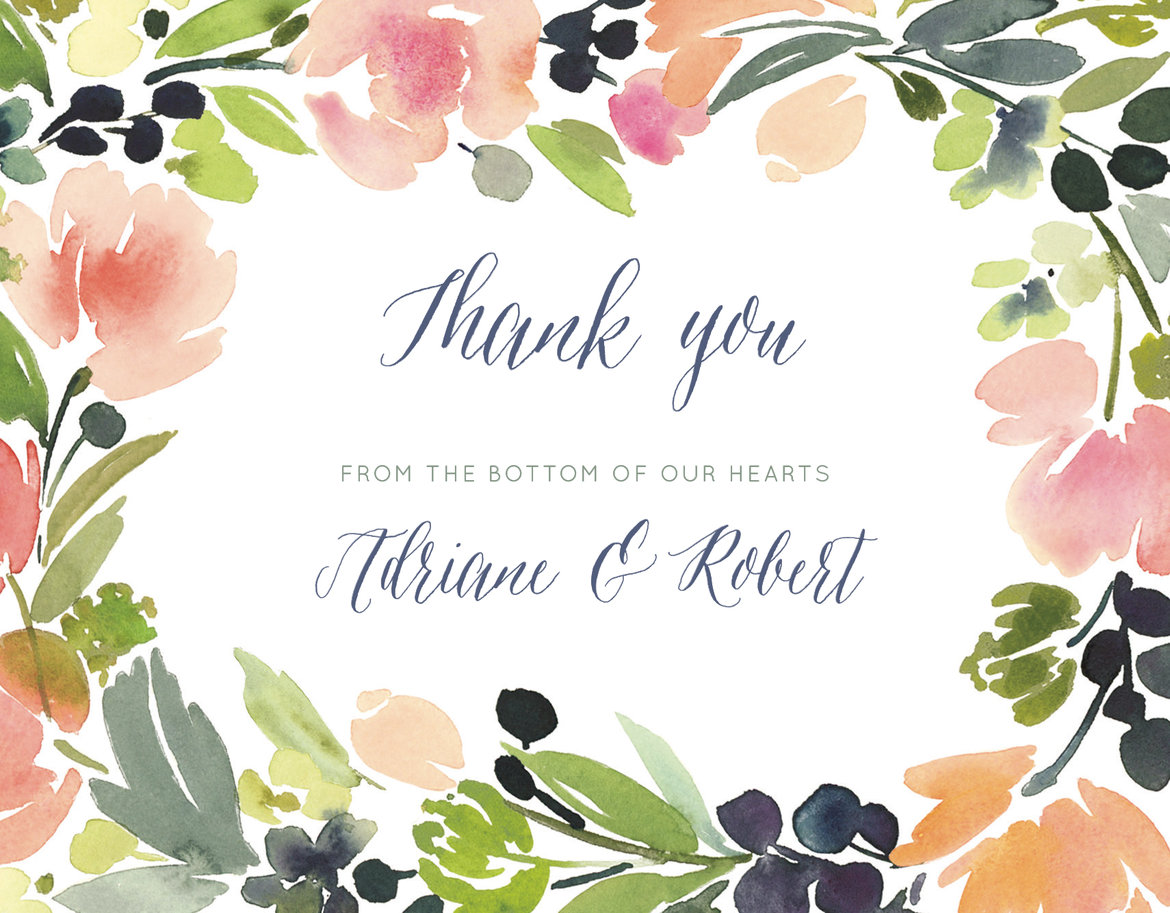 minted wedding thank you card