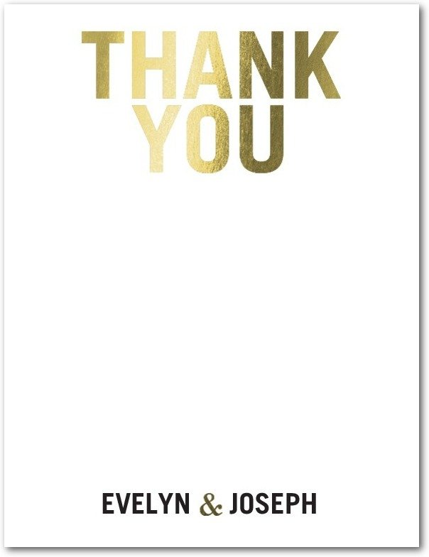 A Word of Thanks – Wedding Paper Divas Thank You Cards