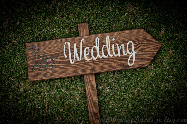 A diy bride hand painted wedding signs bridalguide wedding sign junglespirit Choice Image