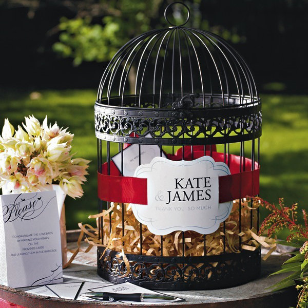 birdcage wedding guest book
