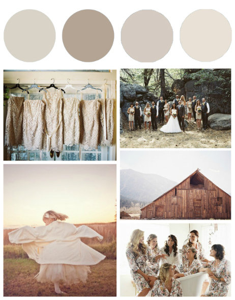 beige wedding color palette