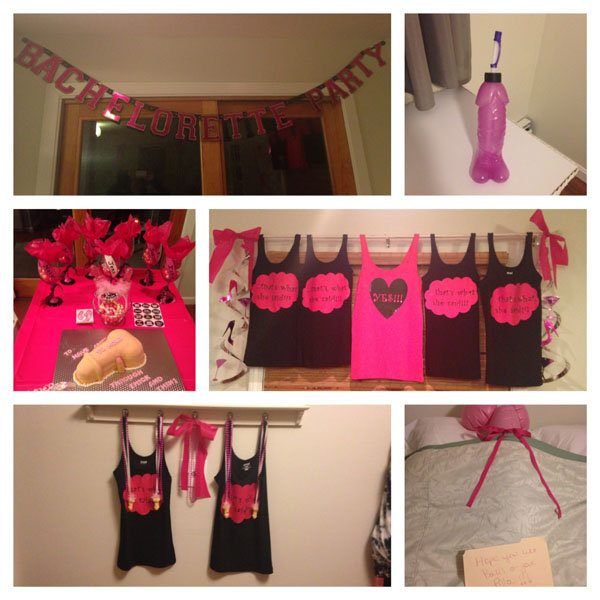 bachelorette bash photo collage