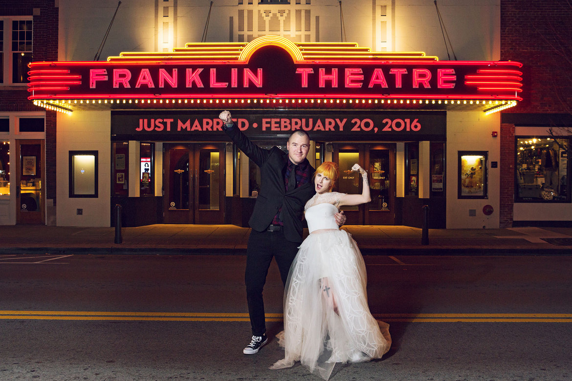 Paramore s hayley williams marries new found glory s chad gilbert