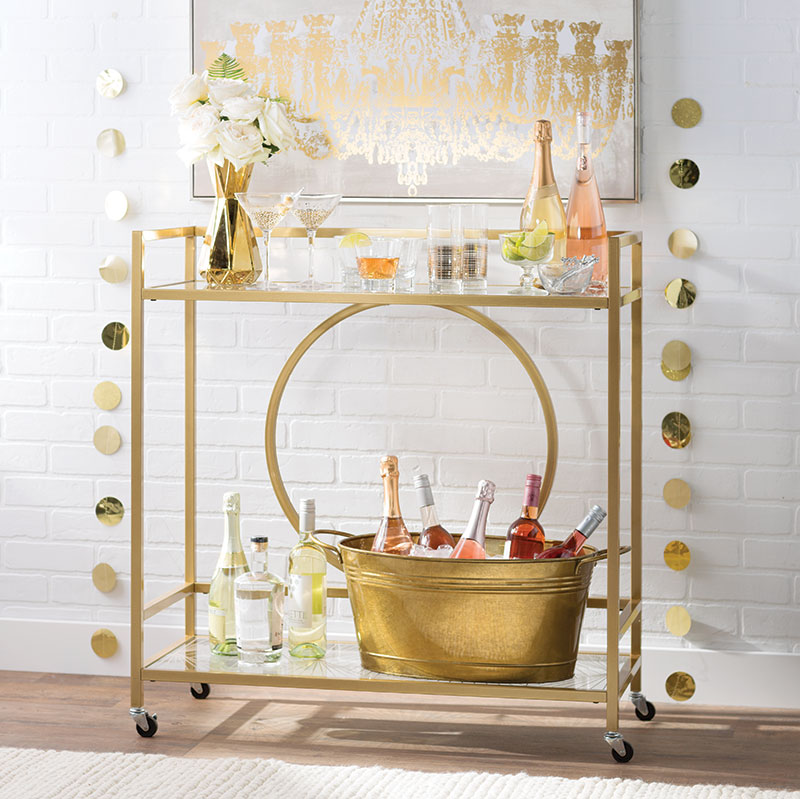 wedding registry bar cart