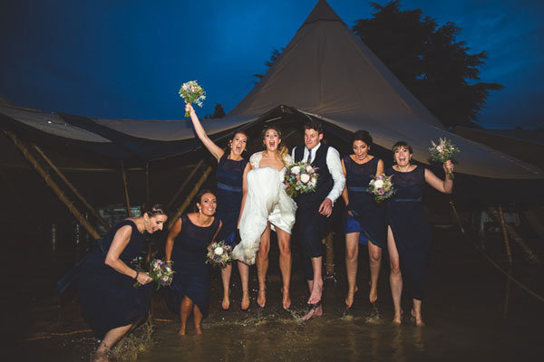 bridal party in the flood