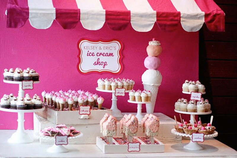 ice cream display