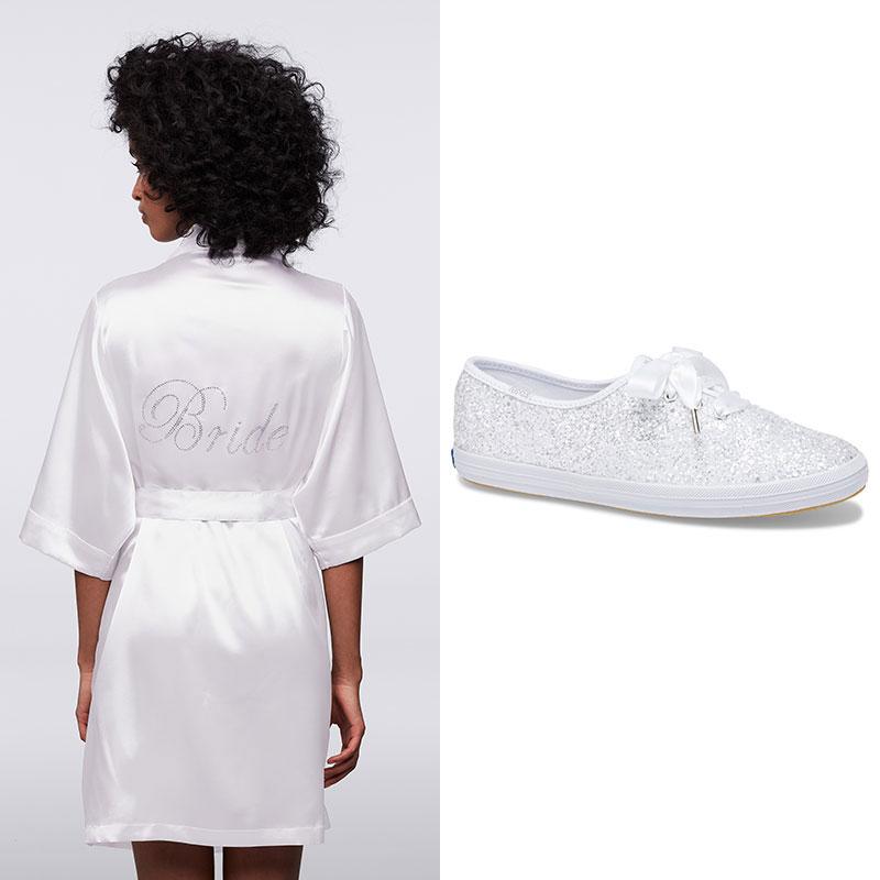 keds with wedding dress