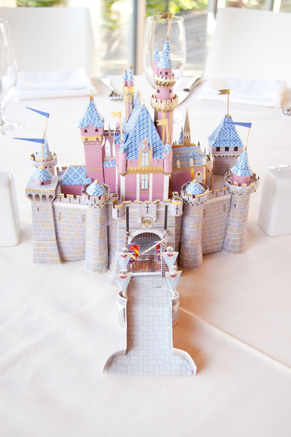 sleeping beauty castle disney wedding centerpiece